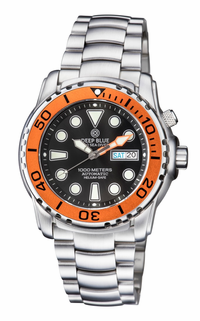 PRO SEA DIVER 1000M BRACELET ORANGE BEZEL �BLACK DIAL