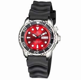 PRO TAC 1000M AUTOMATIC DIVER BLACK BEZEL - RED DIAL