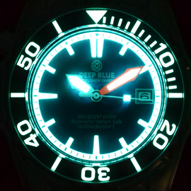 SEA QUEST LUME - DARK DIALS -SEA QUEST LUME - LUMED SAPPHIRE BEZEL - LUME INNER RING