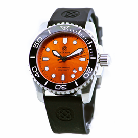 SEA RAM 500 ORANGE DIAL BLACK/WHITE BEZEL