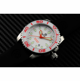 SEA RAM COLLECTION WHITE CERAMIC BEZEL WHITE DIALS