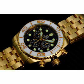SEA RAM GOLD CHRONOGRAPH  CERAMIC BEZEL COLLECTION WHITE BLACK