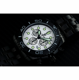SEA RAM PVD CHRONOGRAPH  CERAMIC BEZEL COLLECTION BLACK WHITE