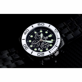 SEA RAM PVD CHRONOGRAPH  CERAMIC BEZEL COLLECTION WHITE BLACK