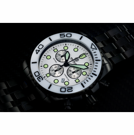 SEA RAM PVD CHRONOGRAPH  CERAMIC BEZEL COLLECTION WHITE WHITE