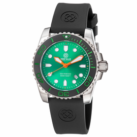 Sea Ram Quartz II - Green Dial BLACK/GREEN BEZEL