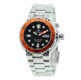 SOLD OUT - Pro Sea Diver 1K Orange Bezel Black Dial bracelet