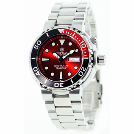 Sun Diver 3 1k RED  Sunray Dial RED 1/4 bezel