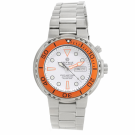 Sun Diver 3 1K White Dial Orange Bezel