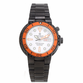 Sun Diver 3 1K White dial Orange Bezel PVD