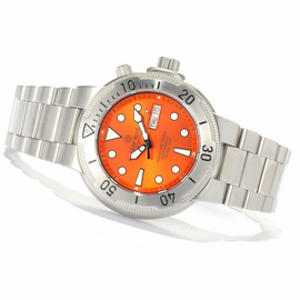 SunDiver 2 Silver Bezel Orange Dial