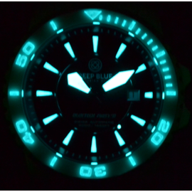 White Bezel Lume Shot - Black Hands