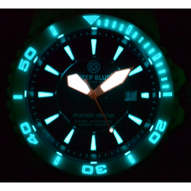 White Bezel Lume Shot - Orange Hands