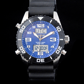 World Timer Analog-Digital Watch Collection