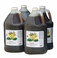Organic Raw Agave (UWC) Amber (4/1 Gallon Case)