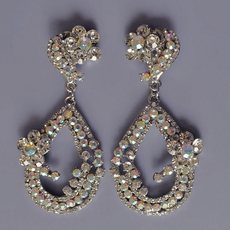 ANGEL BABY CLEAR-AB RHINESTONE EARRINGS