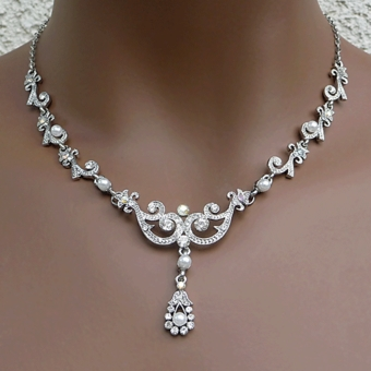 Annabelle Wedding Jewelry Sets Vintage Antique Necklaces