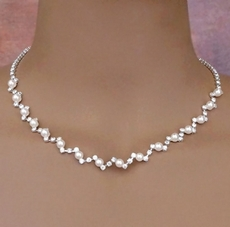 BEST OF SHOW WHITE FAUX PEARL BRIDAL JEWELRY NECKLACE SET - SOLD OUT