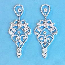 BETSY CHANDELIER RHINESTONE EARRINGS