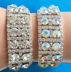 BLOCKS OF BEAUTY RHINESTONE BRACELET
