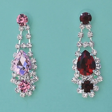 CLASSY CHANDELIER EARRINGS - Deep Red or Soft Pink