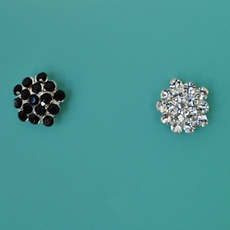 CRYSTAL BUD RHINESTONE STUD EARRINGS