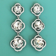 CRYSTALS 1-2-3 RHINESTONE EARRINGS