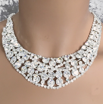 DARLING RHINESTONE JEWELRY SET