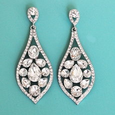 DAZZLING TEARDROPS RHINESTONE EARRINGS