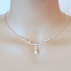 DELICATE RHINESTONE SILVER JEWELRY SET - TEMP SOLD OUT