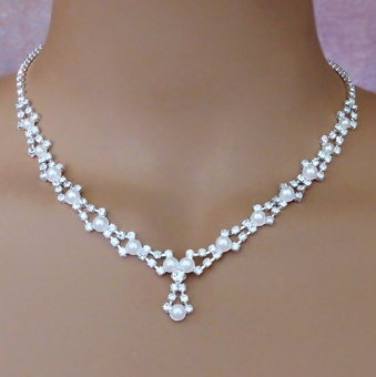DONNA'S CHOICE WHITE FAUX PEARL WEDDING SET - SOLD OUT