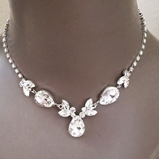 ERICA RHINESTONE BRIDESMAIDS CLEAR JEWELRY SET