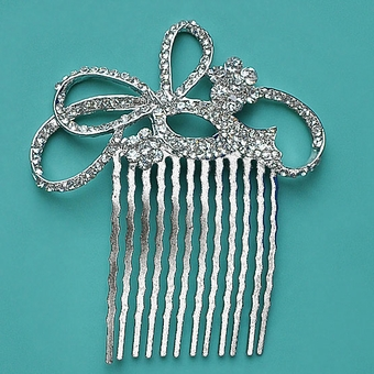 FLOWERS IN A KNOT HAIRCOMB