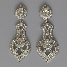 FORMAL AFFAIR RHINESTONE CHANDELIER EARRINGS
