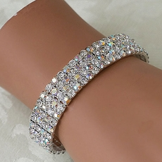 GLITZANIA ELASTIC RHINESTONE AB BRACELET* -  OUT OF STOCK