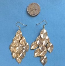 GOLDEN LEAF EARRINGS - THREE REMAINING