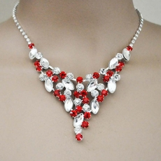GRANDIOSO RED RHINESTONE BRIDESMAIDS JEWELRY SET - ONE REMAINING SET