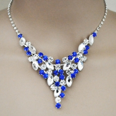 GRANDIOSO ROYAL BLUE RHINESTONE JEWELRY SET