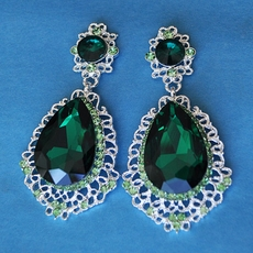 GREEN QUEEN RHINESTONE EARRINGS