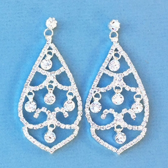 HENRIETTA CHANDELIER RHINESTONE EARRINGS