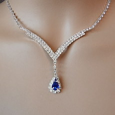 LADY SINGS THE BLUES RHINESTONE JEWELRY SET
