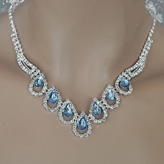 MAMA-MIA BLUE RHINESTONE JEWELRY SET