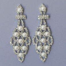 PEARLY LATTICE BRIDAL EARRINGS - SOLD OUT