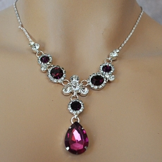 PURPLE PLEASURES BRIDESMAIDS RHINESTONE JEWELRY SET