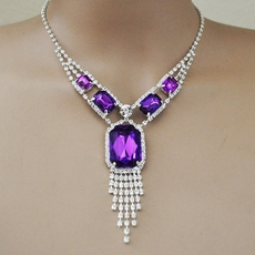 PURPLE SPLENDOR RHINESTONE JEWELRY SET