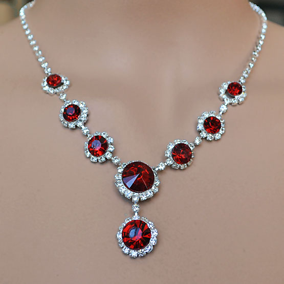 Red Rhinestone Jewelry For Your