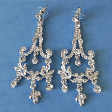 RENAI CLEAR RHINESTONE EARRINGS