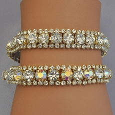 RODEO DRIVE GOLD BRACELETS - CLEAR