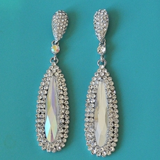 RUNWAY READY CHANDELIER RHINESTONE EARRINGS - TEMP SOLD OUT OF AL CLEAR