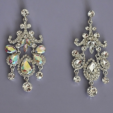 SAVVY RHINESTONE CHANDELIER EARRINGS - TEMP SOLD OUT OF ALL CLEAR
